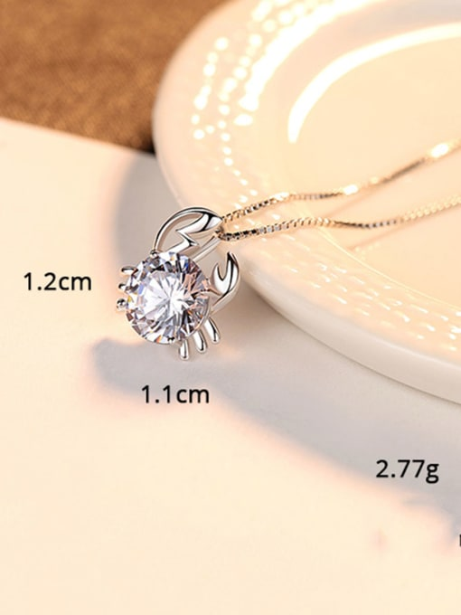 Taurus 925 Sterling Silver With  Cubic Zirconia Cute 12 constellations Necklaces