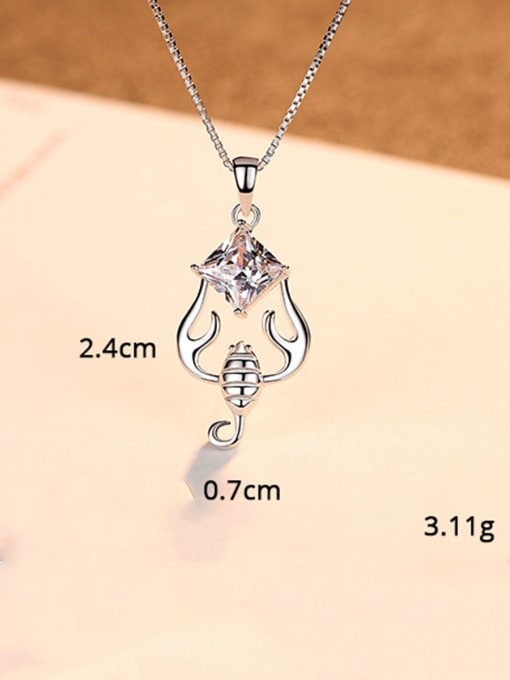 Scorpio 925 Sterling Silver With  Cubic Zirconia Cute 12 constellations Necklaces