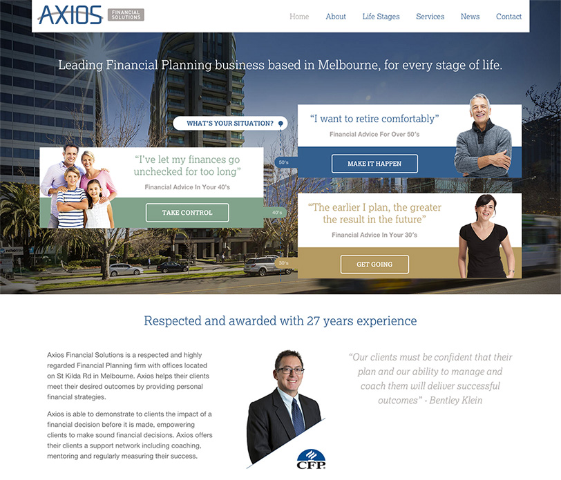 Axios Website Design 2