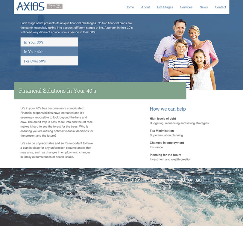 Axios Website Design 1