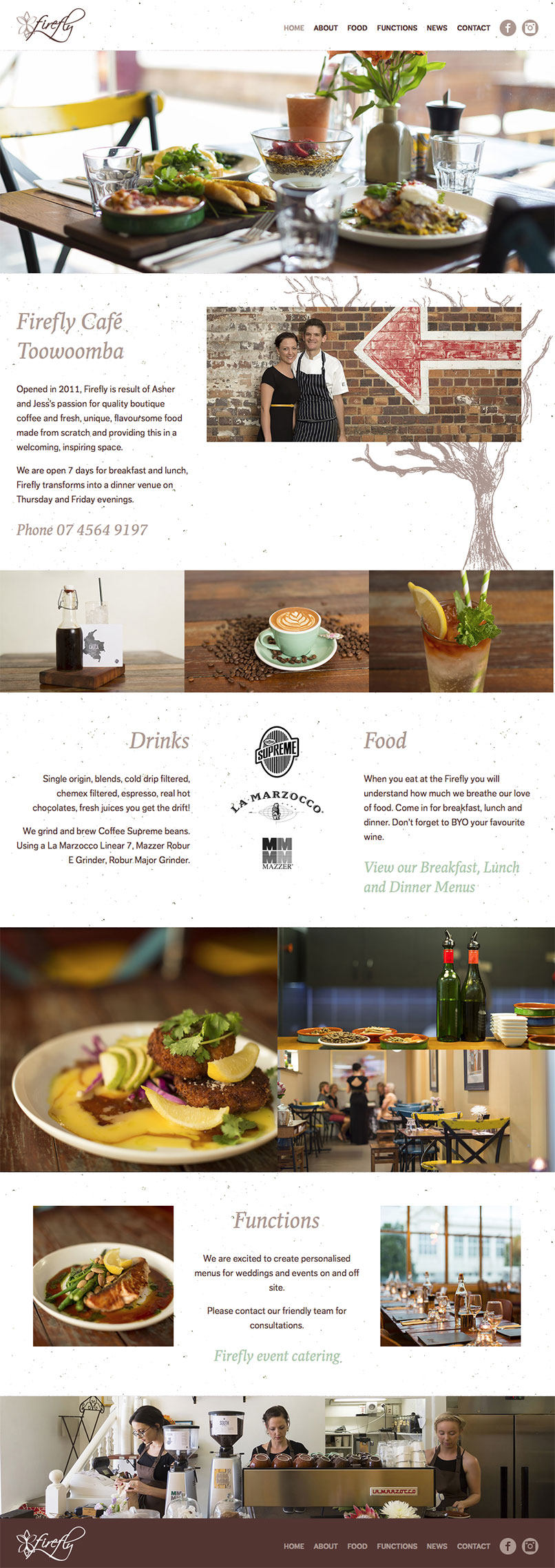 The Firefly Cafe Website