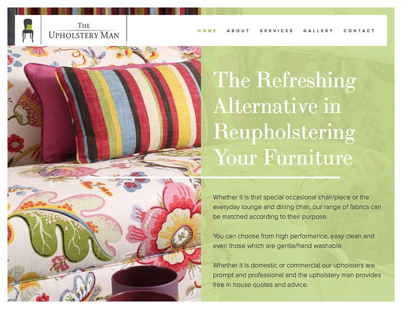 The Upholstery Man Website 2