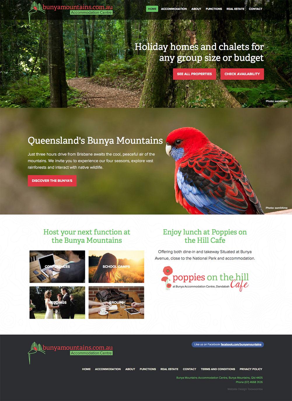 Bunya Mountains Accommodation Centre Website
