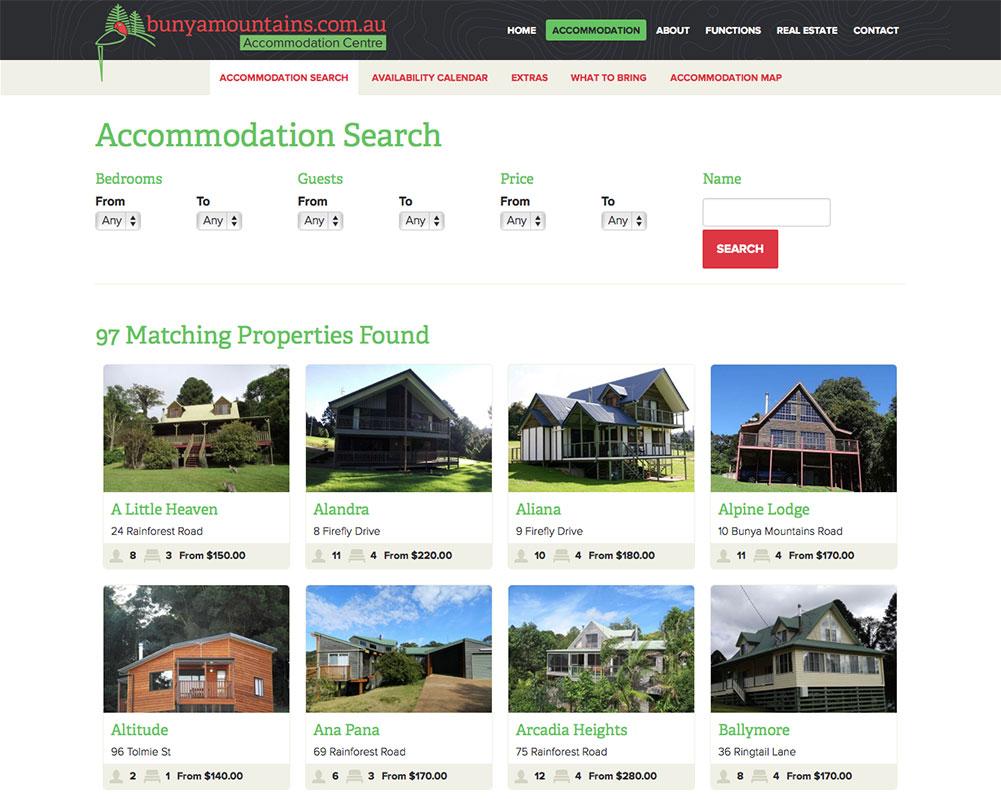 Bunya Mountains Accommodation Centre Website 2