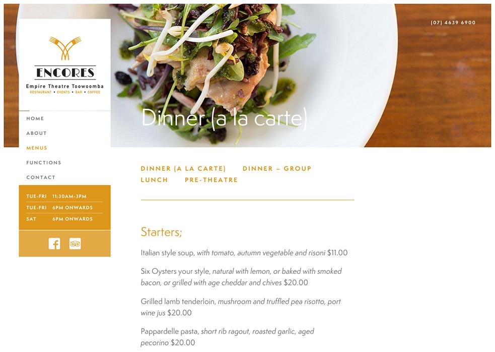 Encores Group Website
