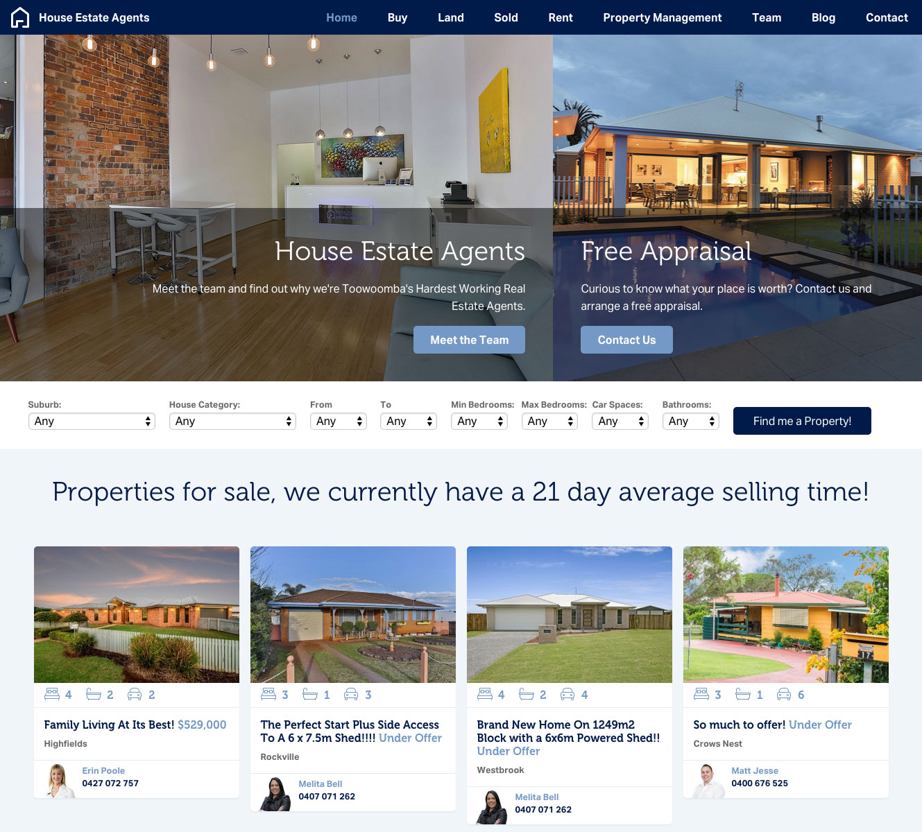 House Estate Agents Website 1