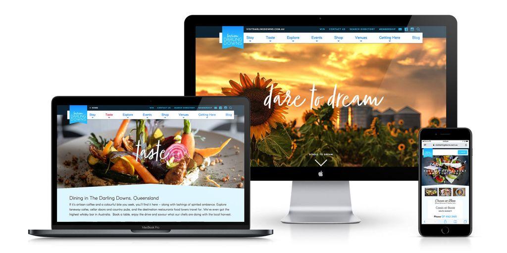 Tourism Darling Downs Website Mockups