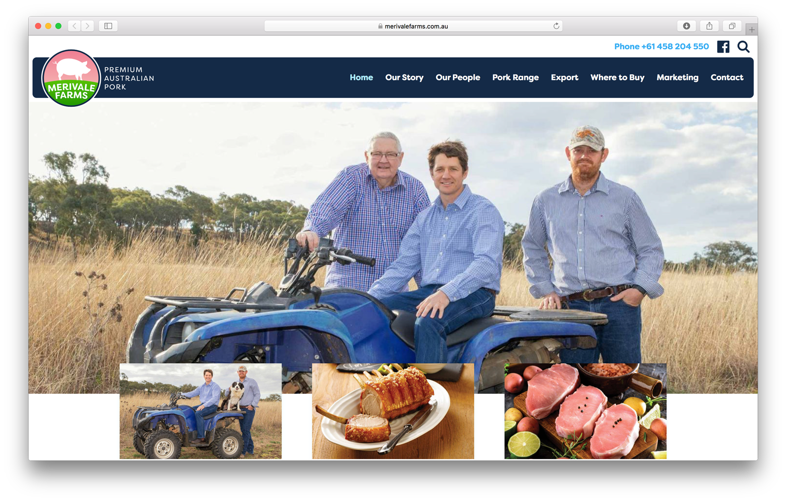 Merivale Farms Website
