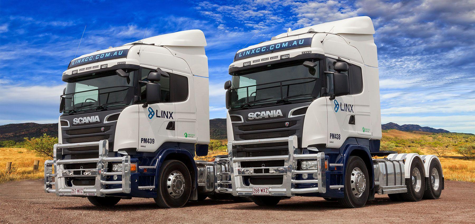 LINX Cargo Care Group Scania Trucks
