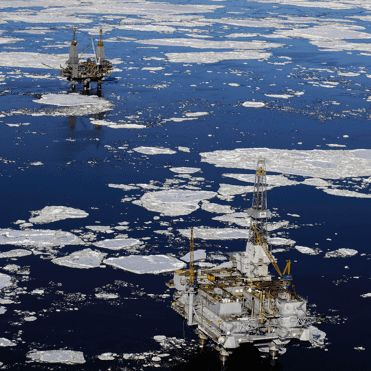 Opposed Arctic drilling