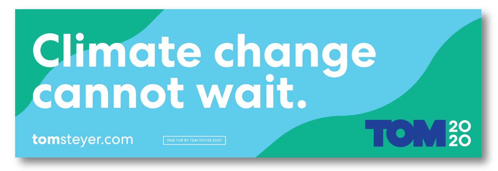 Climate Change Cannot Wait sticker