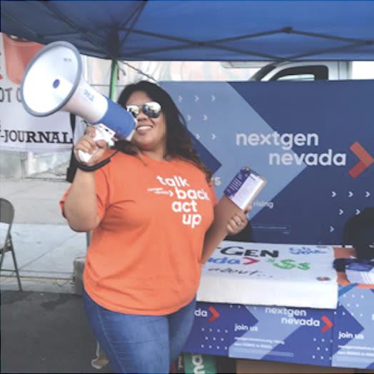 Directora de Organización Tia, NextGen Nevada
