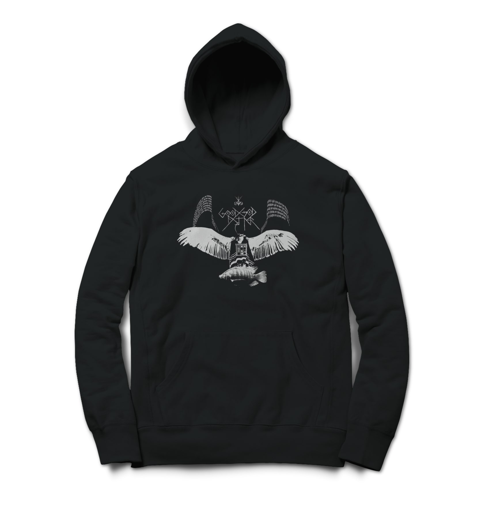 Good god father anti nero vulture white on black 1526700449