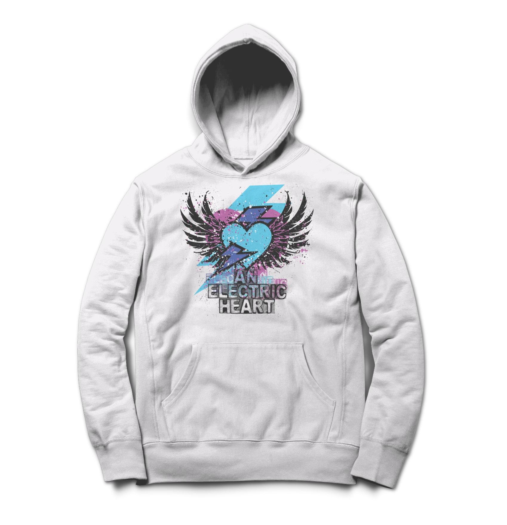 An electric heart wings logo shirt 1508704889