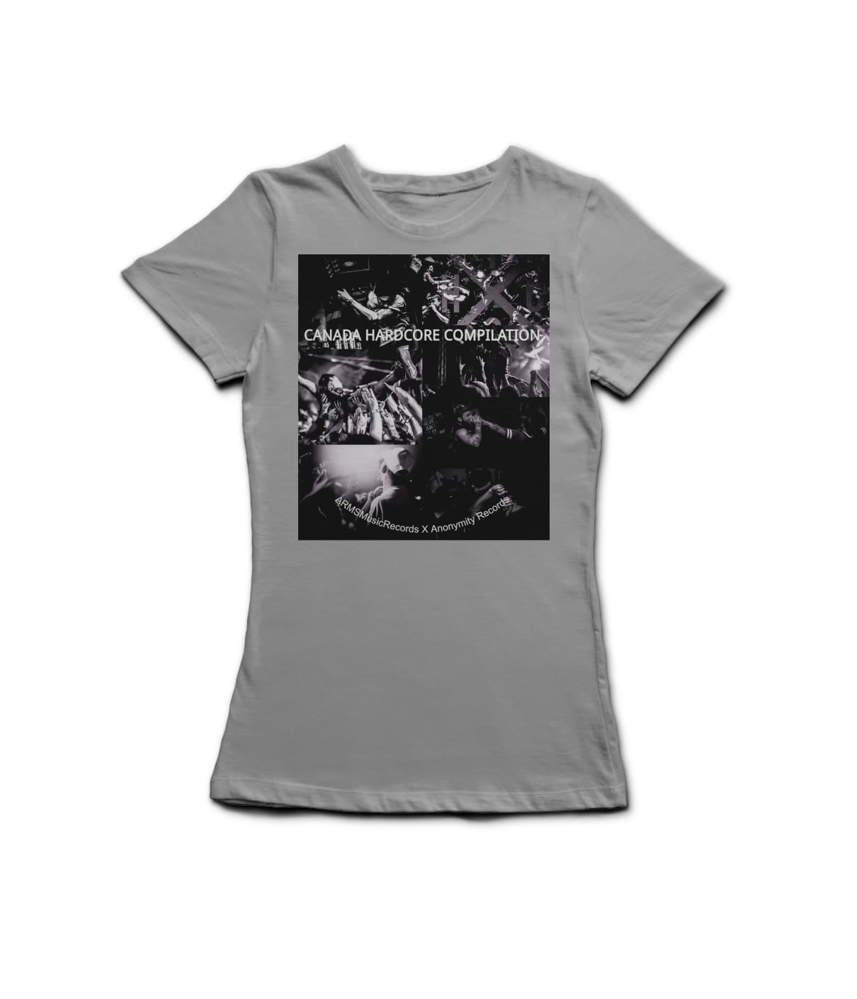 L t shirt grey myyznz