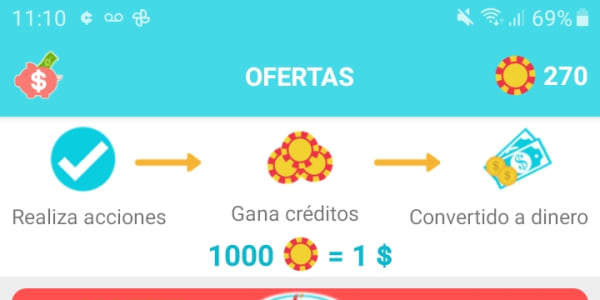 Descárgate la app y gana en efectivo