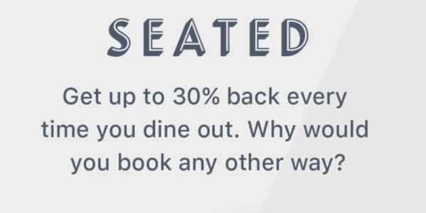 Seated : Rewards for dining out