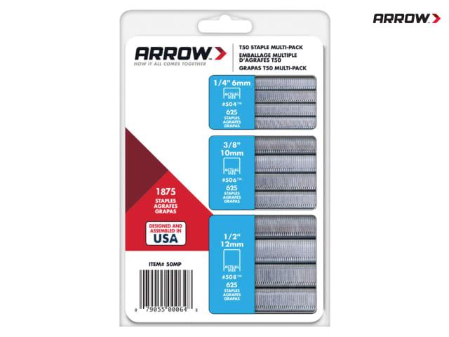 Arrow T50 Staples 8mm 10mm 5//16in 12mm /& 14mm