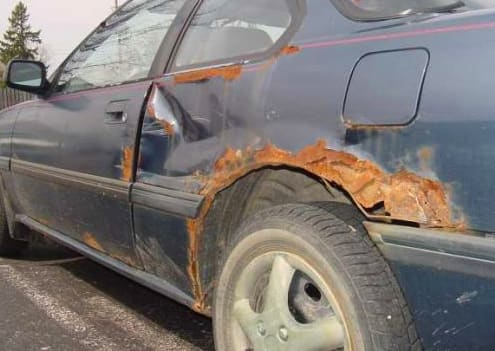 Auto body rust is less common these days but in the past sent many cars to the scrap pile after just a few short years