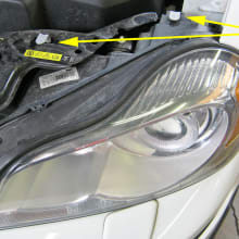 Volvo easy replacement headlamp