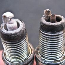 good vs. bad sparkplug