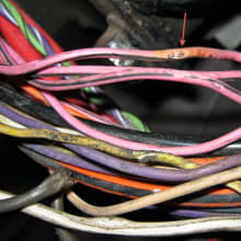Bare Wire that was Shorting