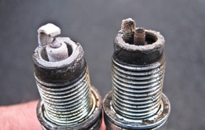 good vs. bad sparkplug