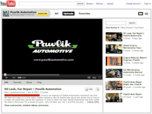 Pawlik Auto Repairs YouTube Channel