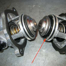 Replace defective mercedes thermostat