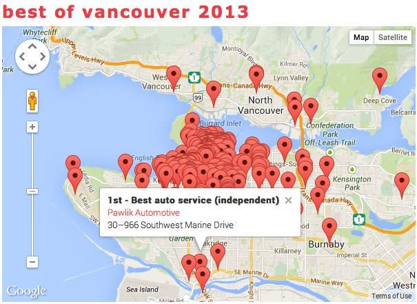 Pawlik-Best In Vancouver 2013