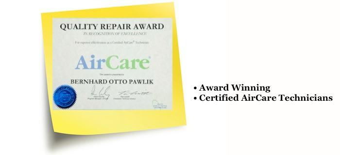 Certified AirCare Repairs