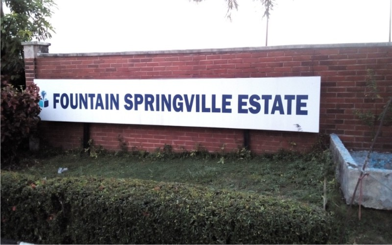 PLOTS OF LAND FOR SALE AT FOUNTAIN SPRINGVILLE ESTATE ON MONARSTERY ROAD SANGOTEDO