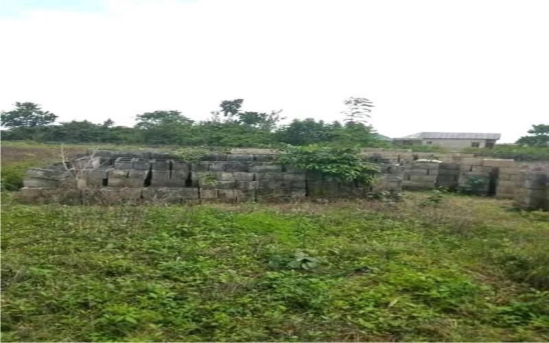 5 plots of land and 2 blocks of 2 bedrooms flats at Obere, Atan-Iju road, Ogun state
