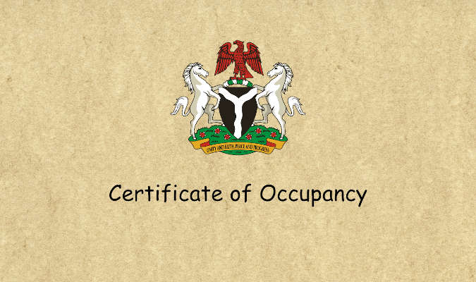 Meaning and Importance Of Certificate of Occupancy- C of O in Nigeria