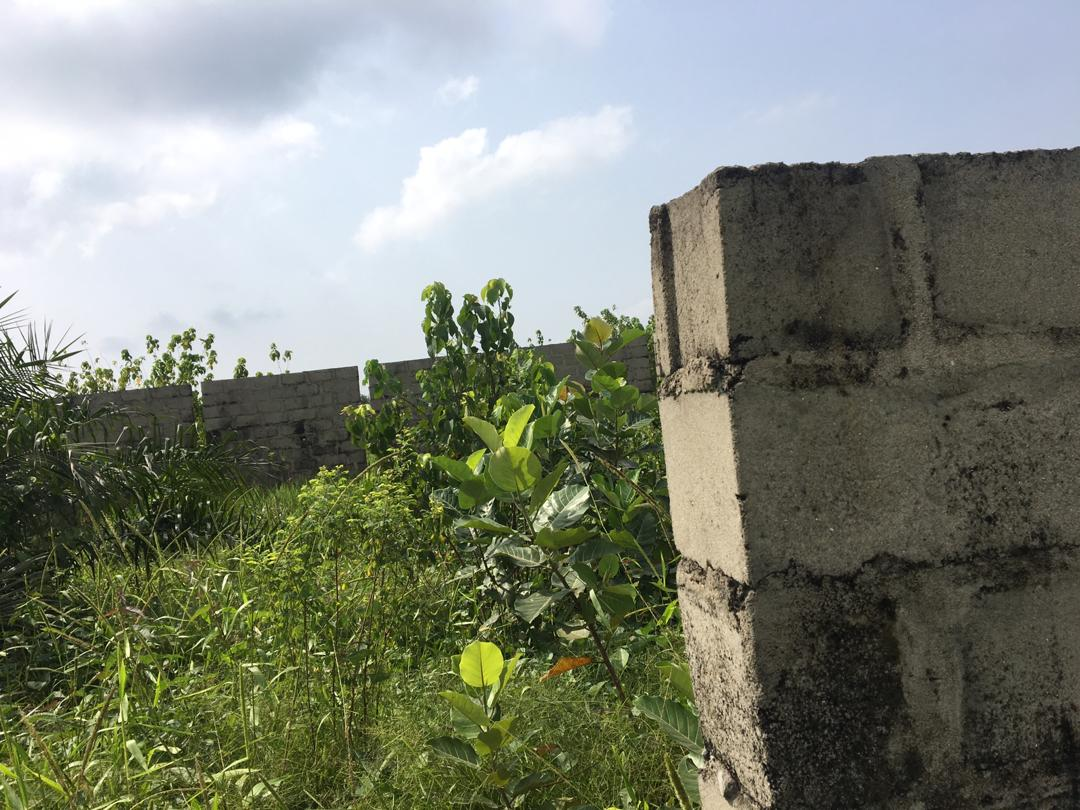 fenced plot of land For sale at Okun Ilado, Magbon off Lekki Free Trade Zone Road