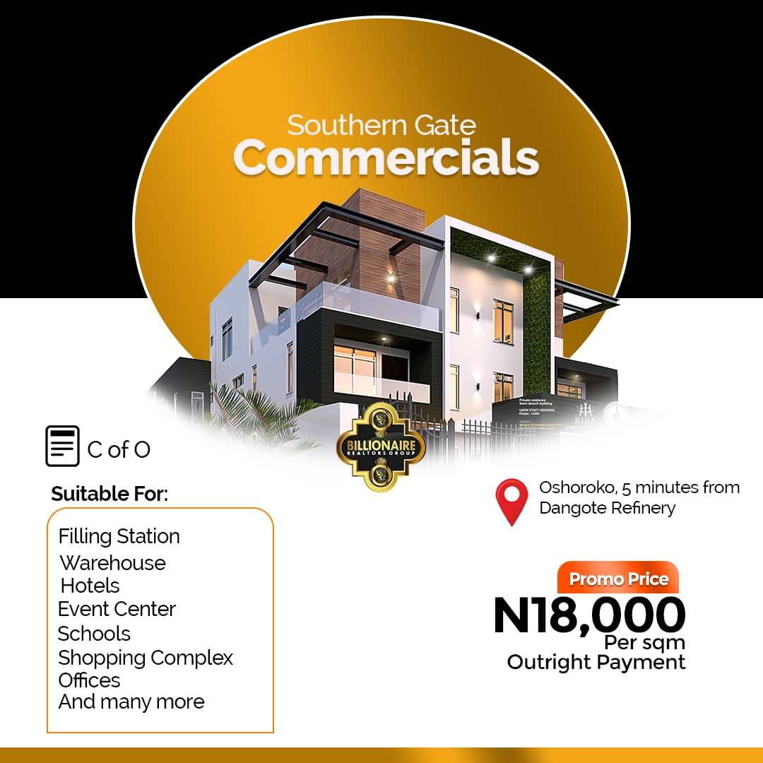 Plots of land for sale at Southern Gate Commercial Ibeju Lekki