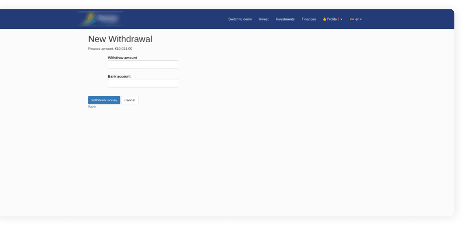 Original Design of Platform - New Withdrawal