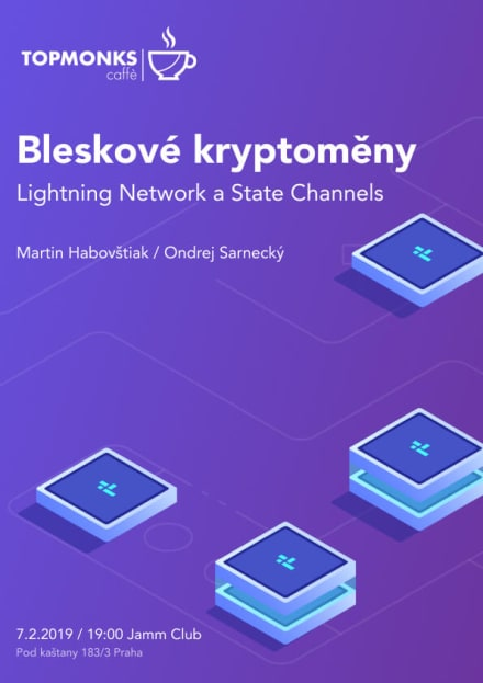 TopMonks Caffè - Bleskové kryptoměny - Lightning Network a State Channels