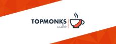 Plakát pro topmonks caffè na téma Bleskové kryptoměny