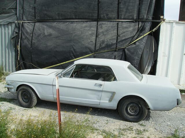 1964.5 Ford Mustang as we received it