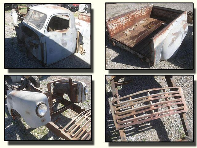1952 Studebaker 2R6 Pickup Truck Parts Before
