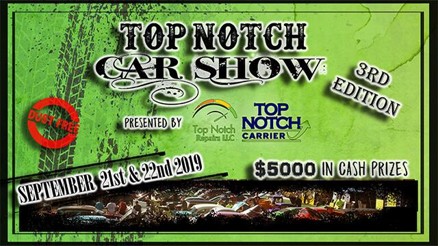 Top Notch Car Show 2019 is September 21st-22nd 2019