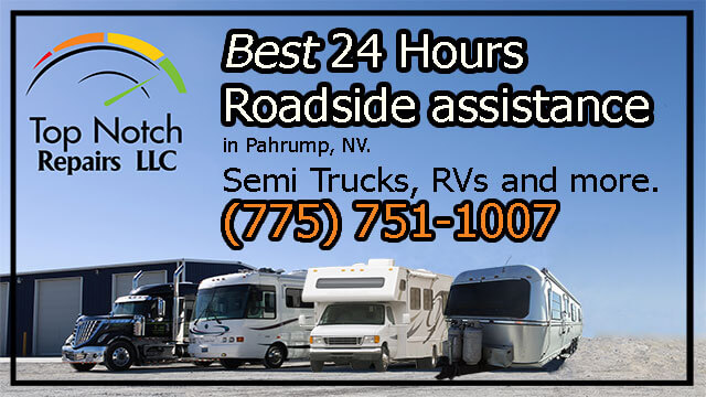 Top Notch Repairs offers 24 hours roadside assistance call us anytime (775) 751-1007