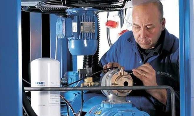 Manutenção de compressor