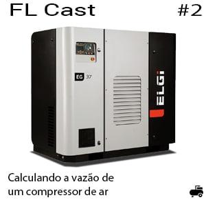 Calculando a vazão de um compressor de ar