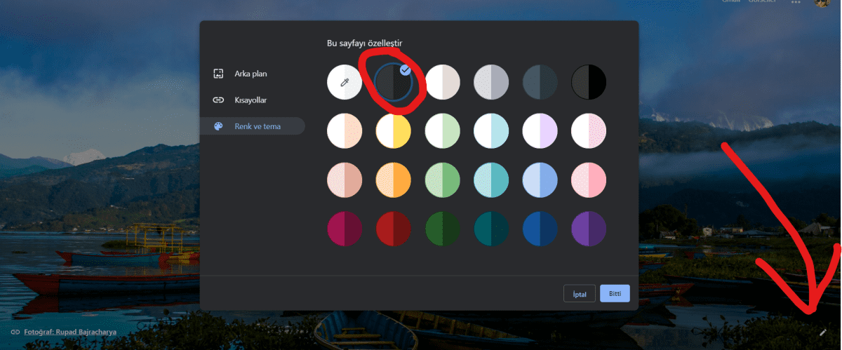 Google Chrome Karanlık Mod
