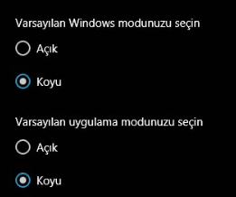Windows 10 Manuel Koyu Mod