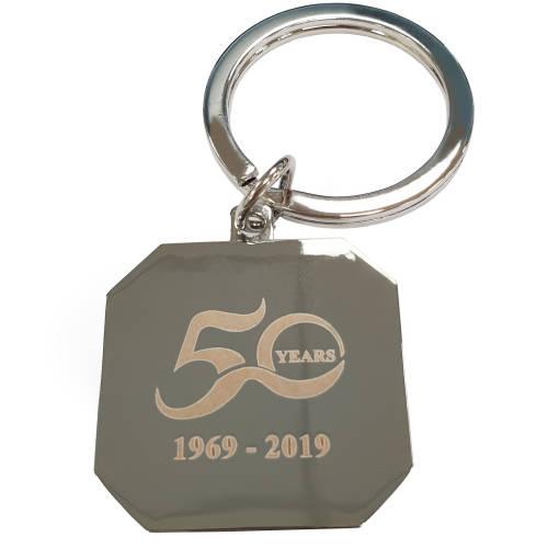 Corporate Branded Venus Metal Keyrings with Engraved Logo by Total Merchandise