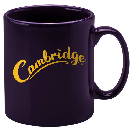 Purple Promotional Cambridge Mugs with a printed logo design by Total Merchandise