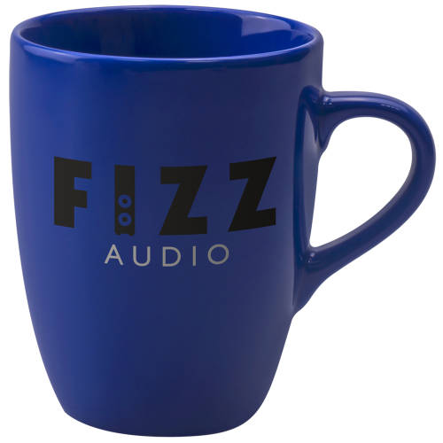 Promotional Marrow Colour Mugs in Reflex Blue Printed with a Logo by Total Merchandise